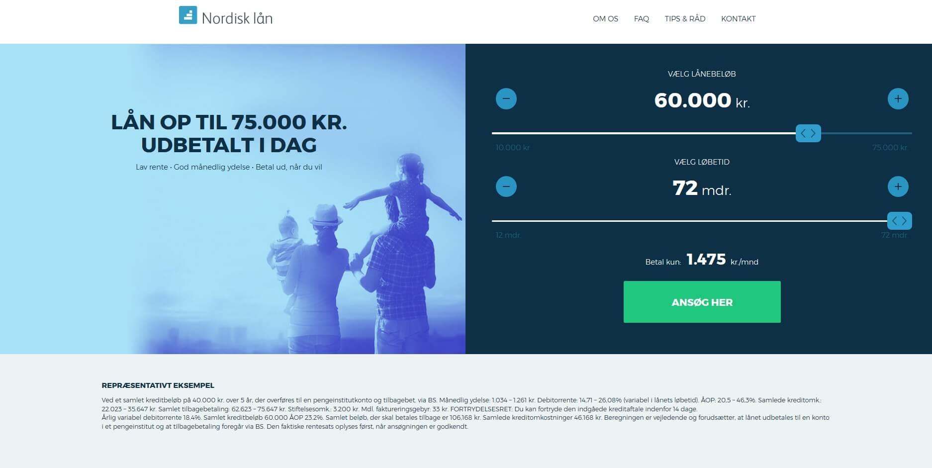 Nordisk lån - Lån op til 75.000